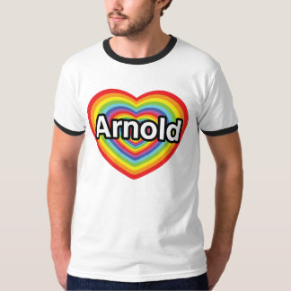I love Arnold, rainbow heart Tee Shirt