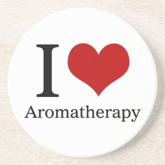 I Love Aromatherapy Sandstone Coaster