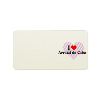 I Love Arraial do Cabo, Brazil Address Label