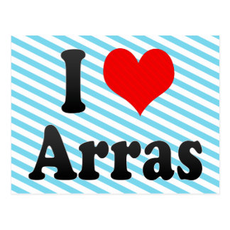 I Love Arras, France Postcard