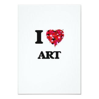 I Love Art 3.5x5 Paper Invitation Card