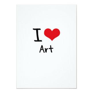 I love Art 5x7 Paper Invitation Card