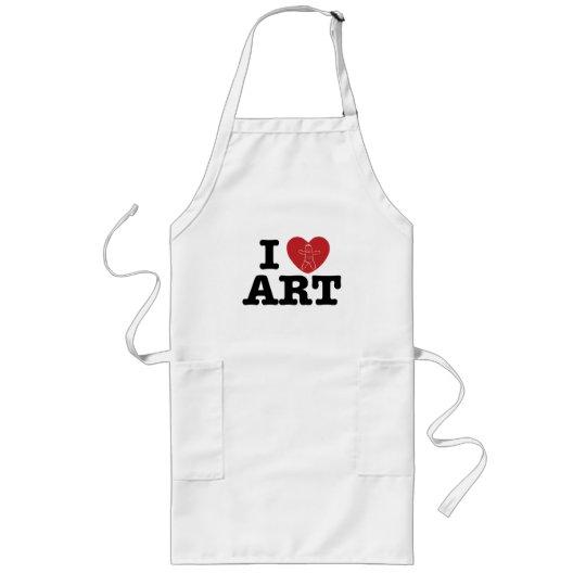 I Love Art Apron