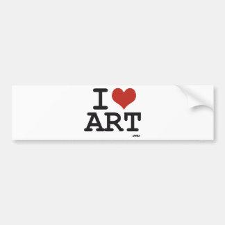 I love art car bumper sticker