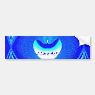 I Love Art Bumper Sticker Car Bumper Sticker