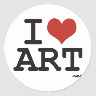 I love art classic round sticker