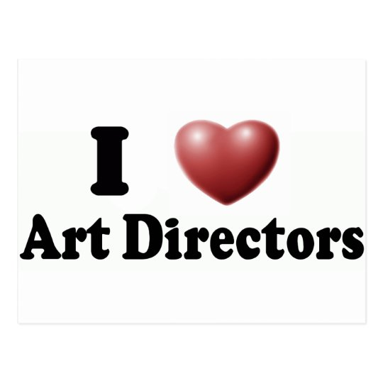 I Love Art Directors Postcard