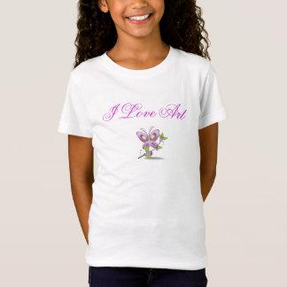 """""""i love art"""" girls t-shirt for girls"""