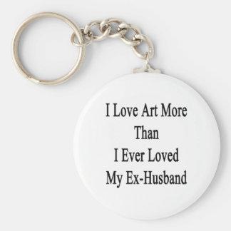 I Love Art More Than I Ever Loved My Ex Husband Key Chains