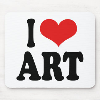 I Love Art Mouse Pad