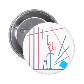 I Love Art Pinback Button