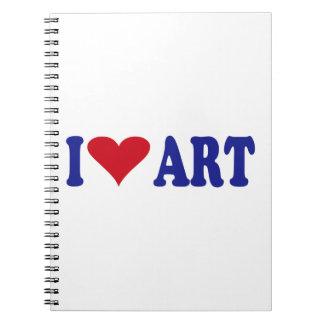 I Love Art Spiral Notebook