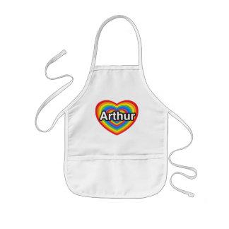 I love Arthur. I love you Arthur. Heart Kids' Apron