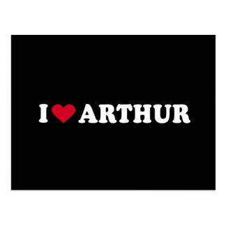 I LOVE ARTHUR POSTCARD