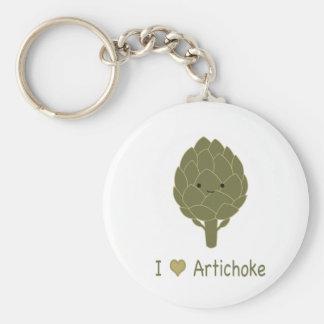 I love artichoke keychain