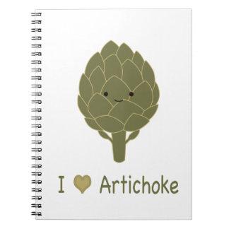 I love artichoke notebook