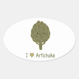 I love artichoke oval sticker