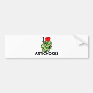 I Love Artichokes Car Bumper Sticker