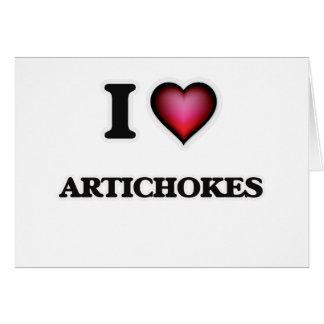I Love Artichokes Card