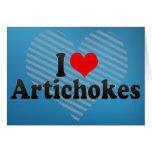 I Love Artichokes Greeting Card