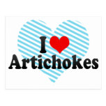I Love Artichokes Post Cards