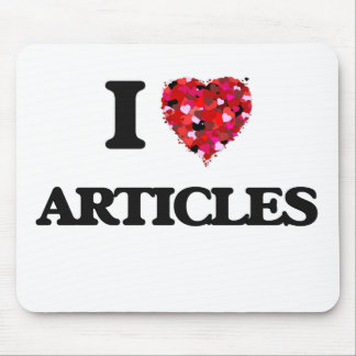 I Love Articles Mouse Pad