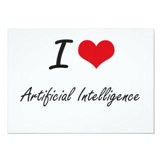 I Love Artificial Intelligence Artistic Design 5x7 Paper Invitation Card