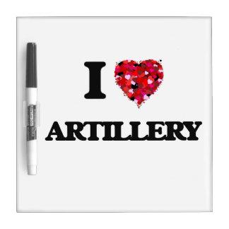 I Love Artillery Dry Erase Boards