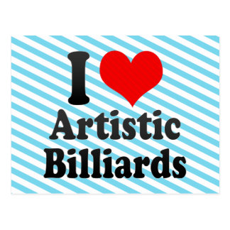 I love Artistic Billiards Postcard