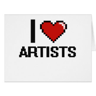 I love Artists Large Greeting Card