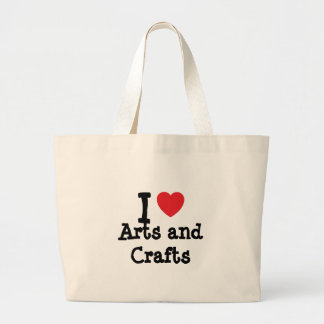 I love Arts and Crafts heart custom personalized Bags