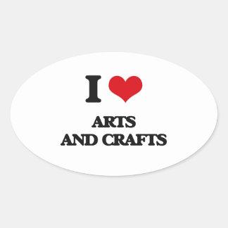 I Love Arts And Crafts Sticker