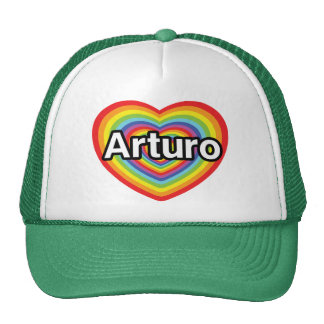 I love Arturo, rainbow heart Trucker Hat