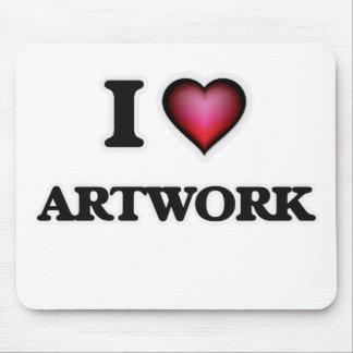 I Love Artwork Mouse Pad