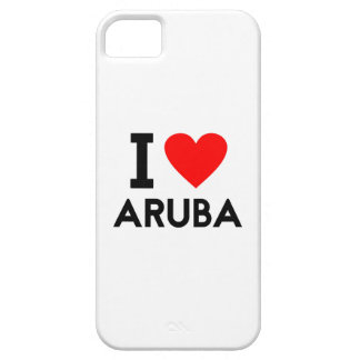 i love Aruba country nation heart symbol text iPhone SE/5/5s Case