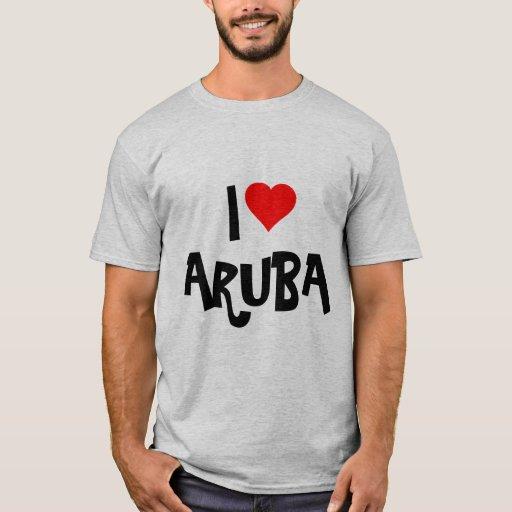I Love Aruba Custom Design T Shirt Zazzle