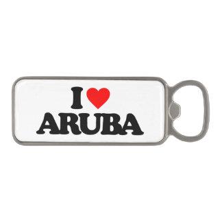 I LOVE ARUBA MAGNETIC BOTTLE OPENER