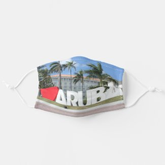 I love Aruba - One happy Island Adult Cloth Face Mask
