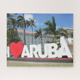I love Aruba - One happy Island Jigsaw Puzzle