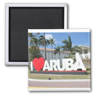 I love Aruba - One happy Island Magnet