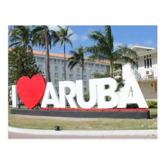 I love Aruba - One happy Island Postcard