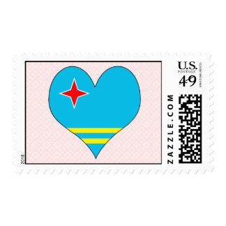 I Love Aruba Postage Stamp