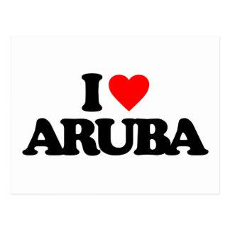 I LOVE ARUBA POSTCARD