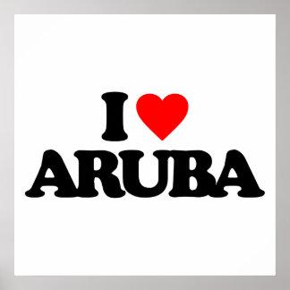 I LOVE ARUBA PRINT
