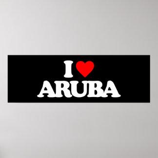 I LOVE ARUBA POSTER