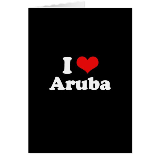 I Love Aruba Tshirt Cards