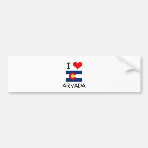 I Love ARVADA Colorado Car Bumper Sticker