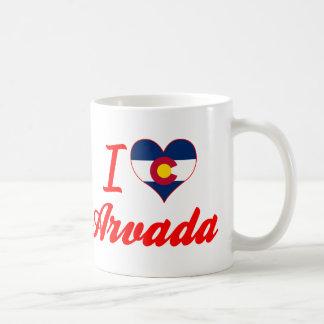 I Love Arvada, Colorado Mugs