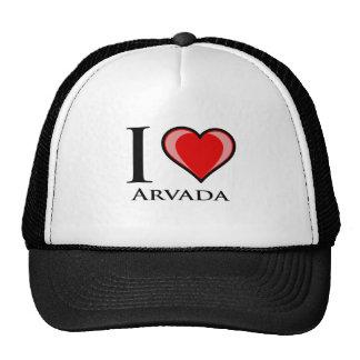 I Love Arvada Mesh Hats