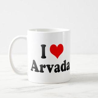 I Love Arvada, United States Coffee Mugs